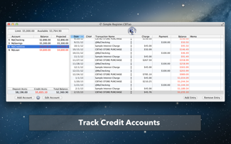 download the free checkbook tao app from the mac app store use it to track deposit and credit accounts